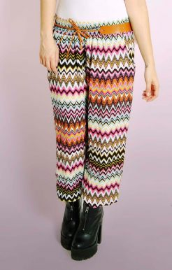 Italian Aztec Belted Harem Trousers